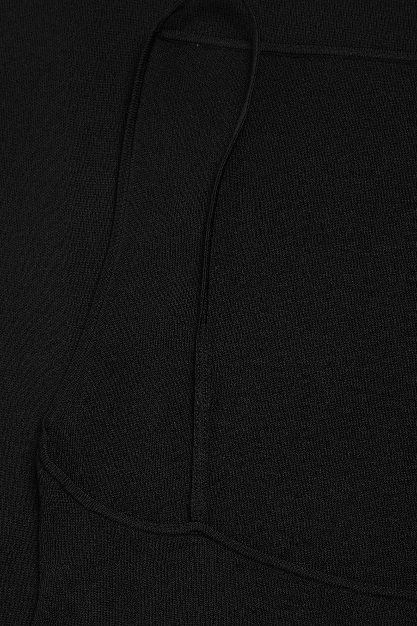 COS 백리스 니티드 슬립 드레스의 블랙컬러 Detail입니다.