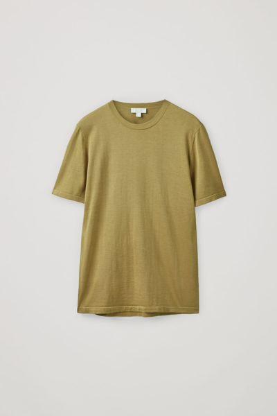 COS default image 1 of  in 니티드 멀버리 실크 코튼 티셔츠