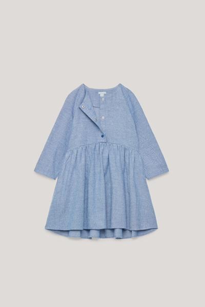 COS hover image 10 of 블루 in 롱 슬리브 서클컷 드레스