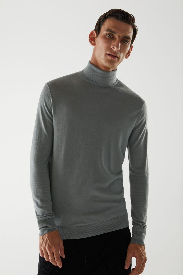 COS default image 3 of 그레이 in 메리노 롤넥 스웨터