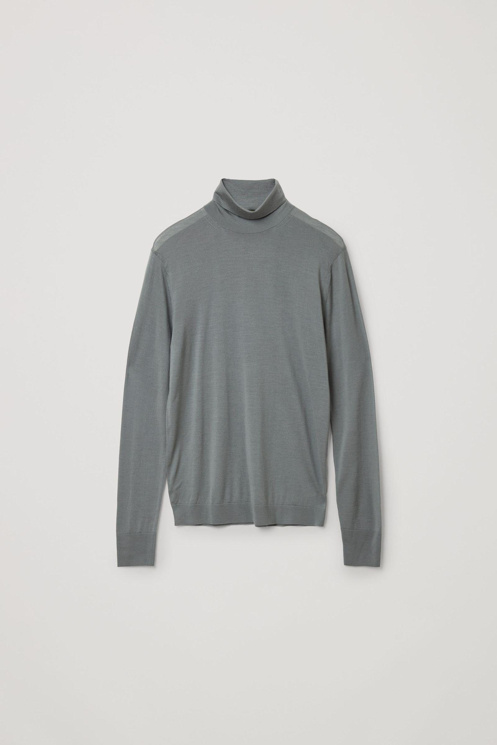 COS 메리노 롤넥 스웨터의 그레이컬러 Product입니다.