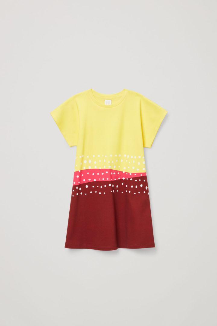 COS default image 1 of 옐로우 in 에이라인 티셔츠 드레스