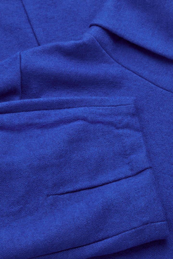 COS 울 코튼 코쿤 드레스의 코발트 블루컬러 Detail입니다.