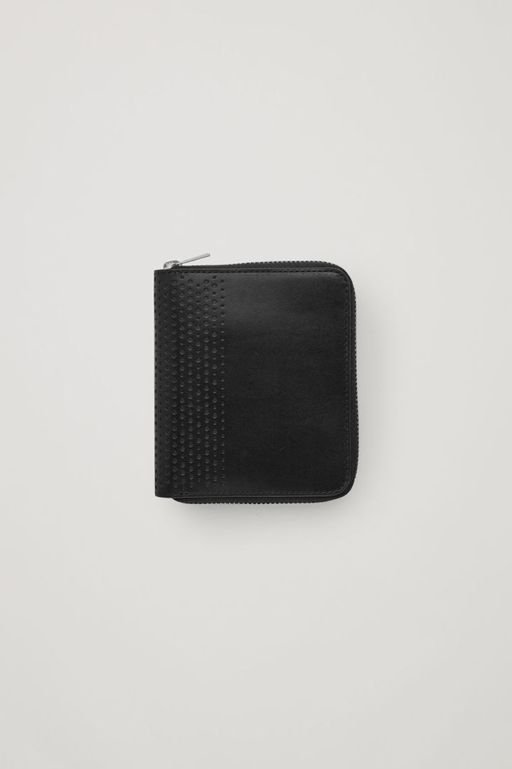 COS default image 6 of 블랙 in 커브드 엣지 레더 월렛