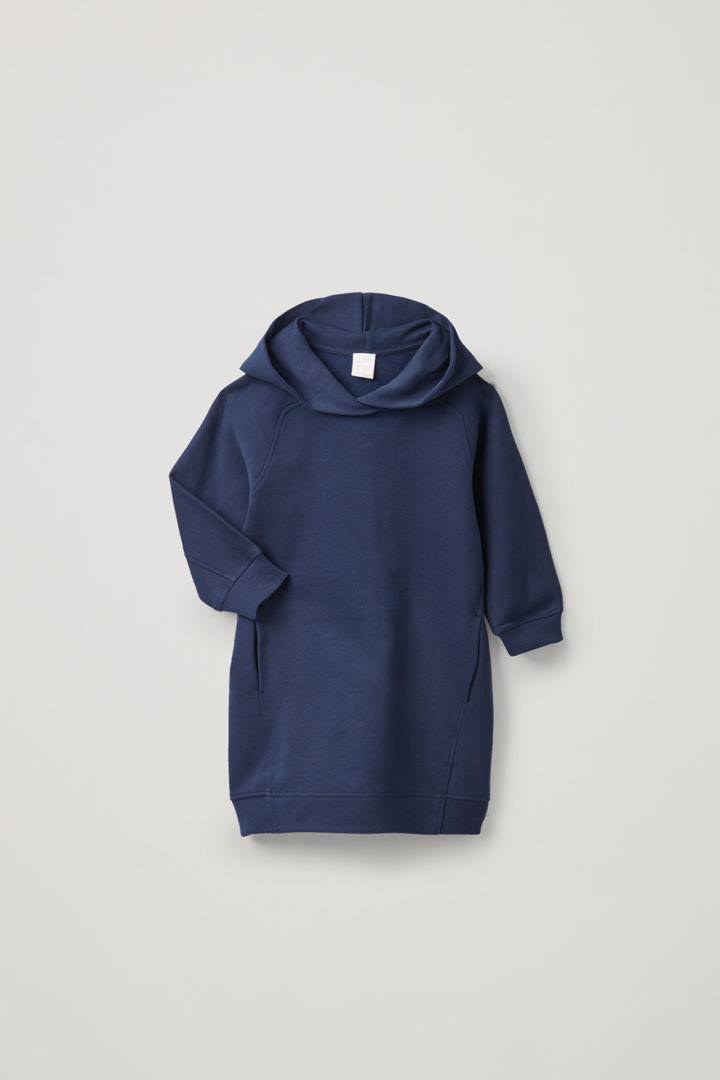 COS hover image 6 of 블루 in 라운디드 후디드 드레스
