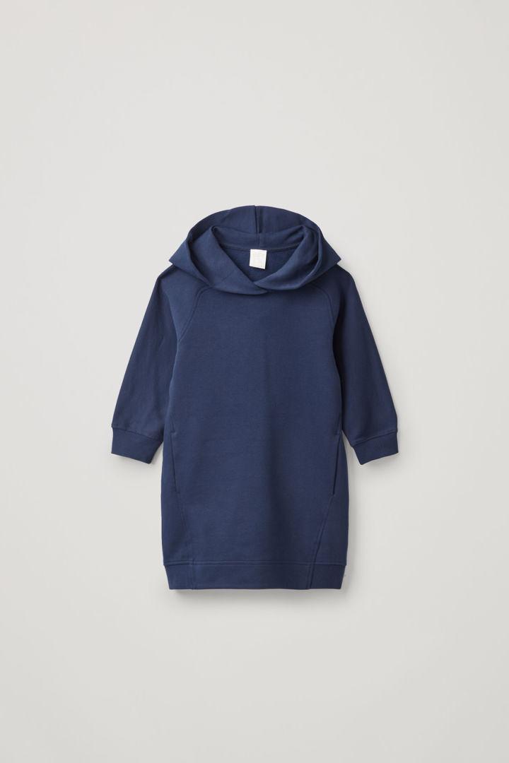 COS default image 11 of 블루 in 라운디드 후디드 드레스