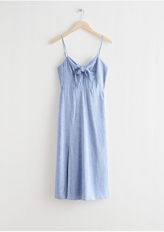 &OS image 23 of 블루 in 프린트 스트래피 미디 드레스