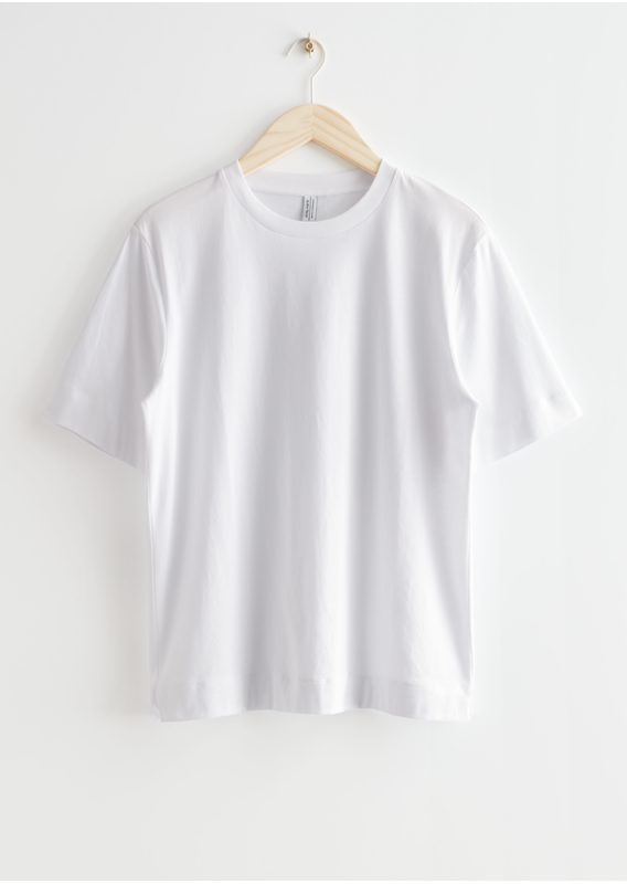 &OS image 1 of 화이트 in 릴렉스드 크루넥 티셔츠