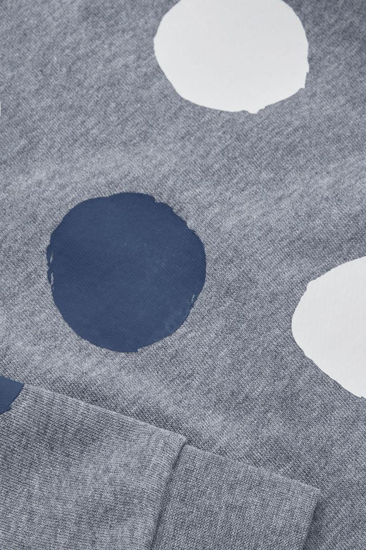 COS 도트 프린티드 코튼 스웻셔츠의 그레이 / 화이트 / 네이비컬러 Detail입니다.