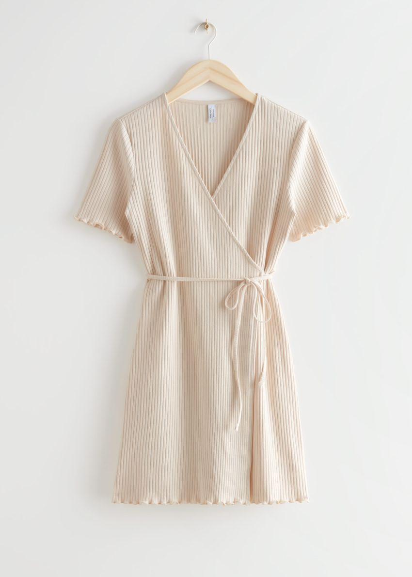 앤아더스토리즈 립 랩 미니 드레스의 크림컬러 Product입니다.
