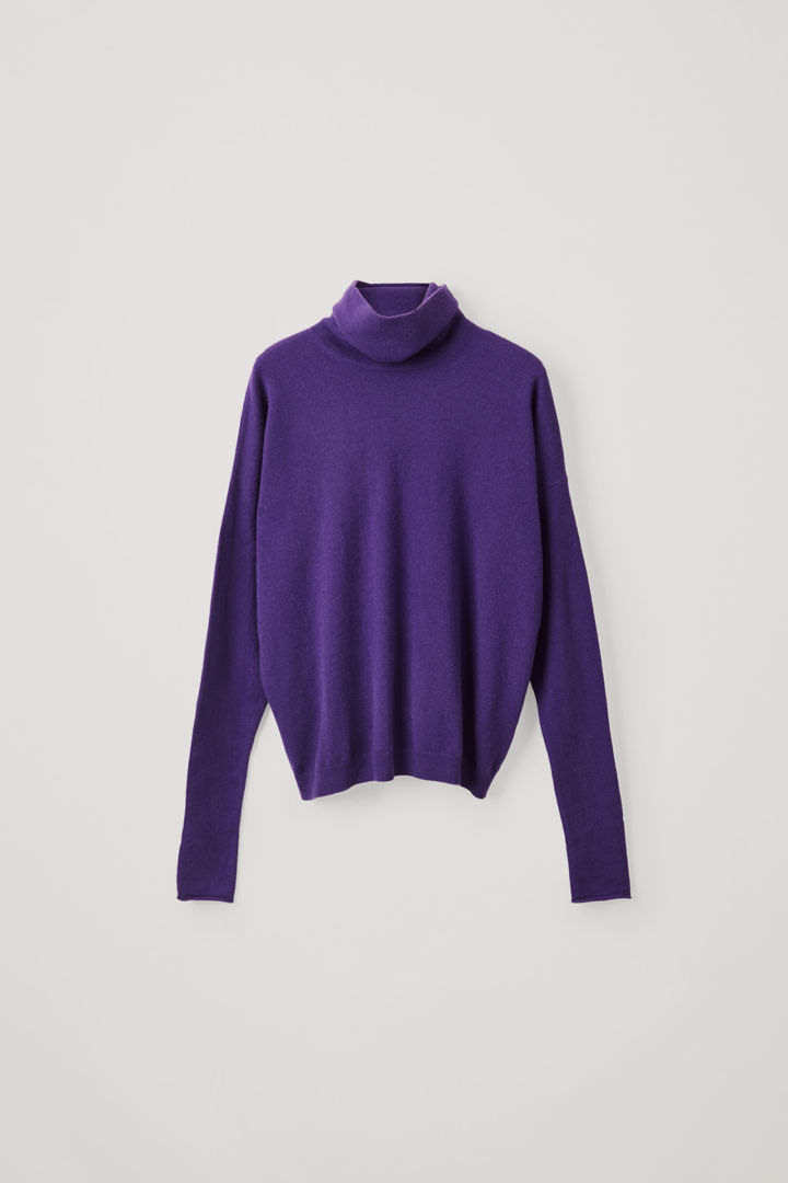 COS default image 11 of 퍼플 in 롤넥 캐시미어 스웨터