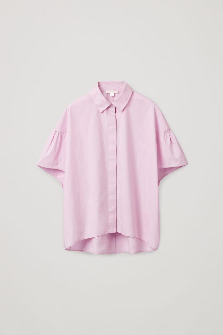 COS hover image 3 of  in 개더드 슬리브 볼류미너스 셔츠