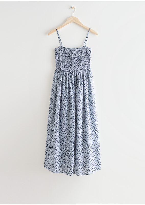 &OS image 15 of 블루 in 스모크 미디 드레스