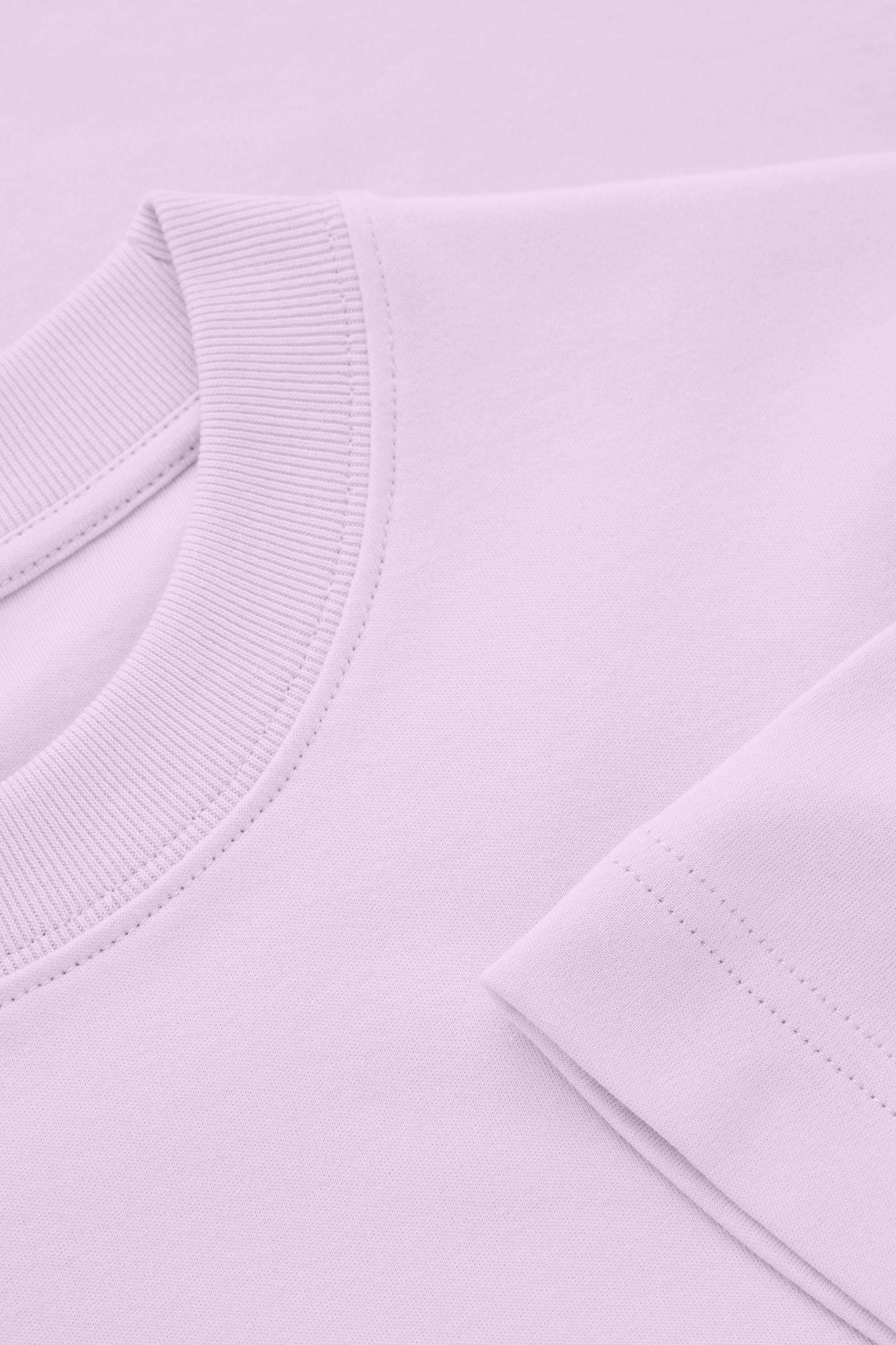 COS 슬림 핏 티셔츠의 퍼플컬러 Detail입니다.