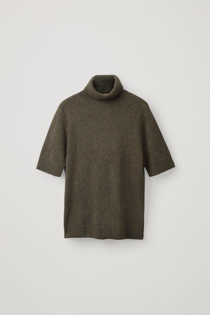 COS default image 12 of 그린 in 쇼트 슬리브 캐시미어 스웨터