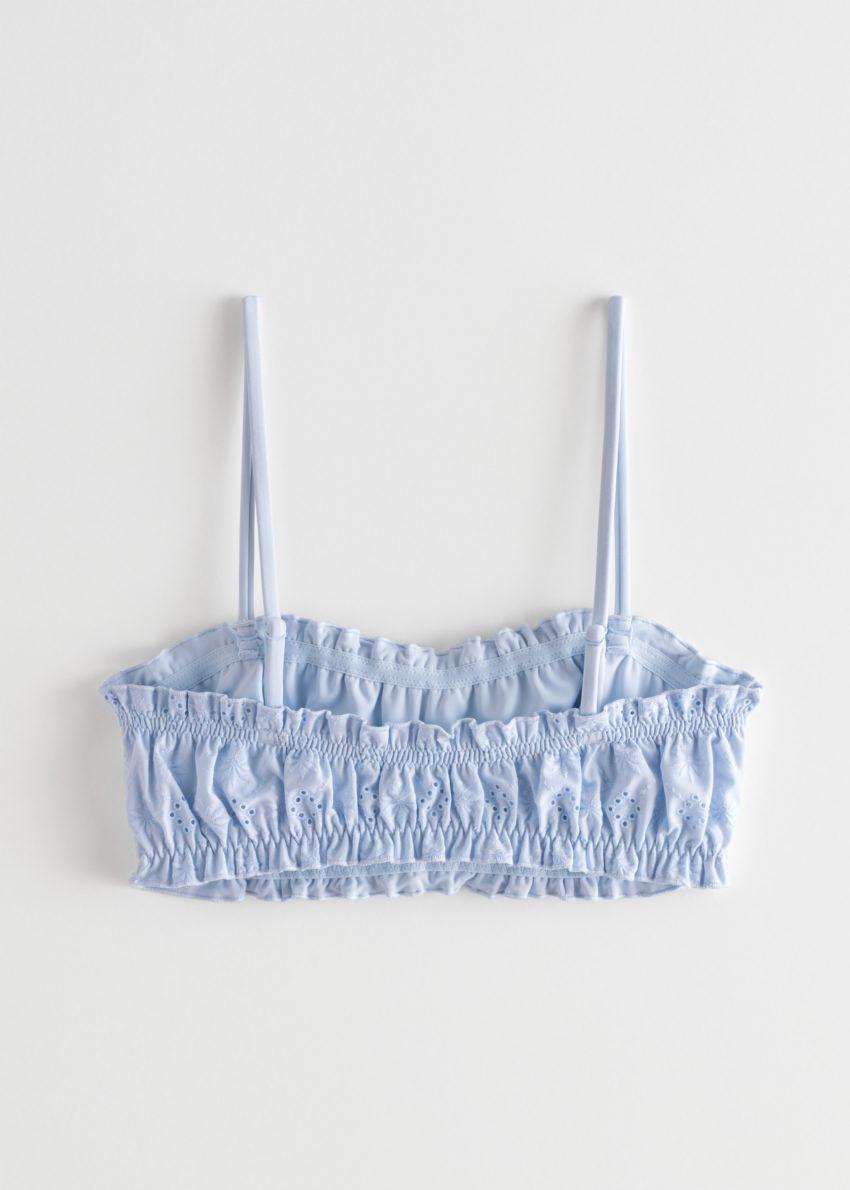 앤아더스토리즈 아일렛 엠브로이더리 방도 비키니 탑 의 라이트 블루컬러 Product입니다.