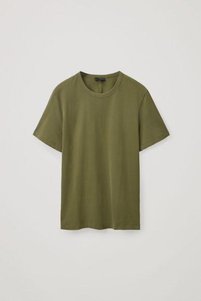 COS default image 10 of 그린 in 레귤러핏 브러쉬드 코튼 티셔츠
