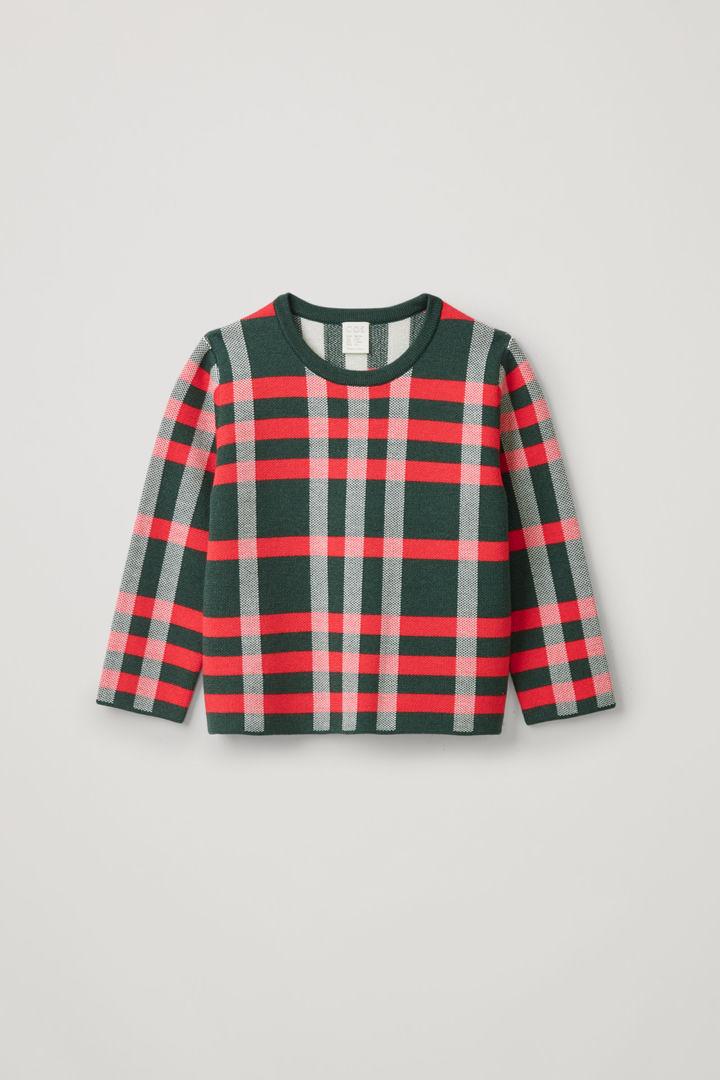 COS default image 9 of 그린 in 체크 메리노 스웨터