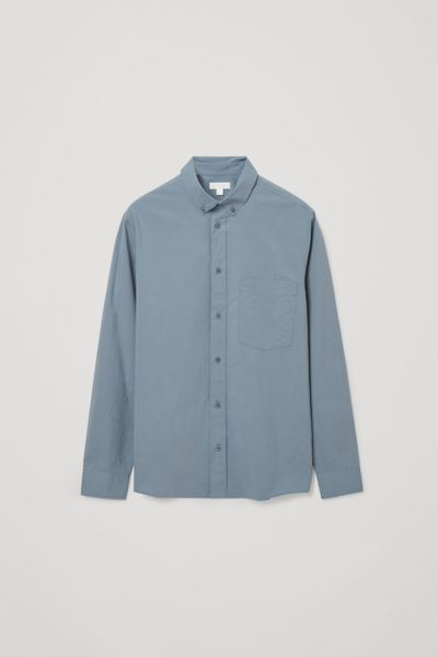 COS default image 10 of 블루 in 포플린 셔츠