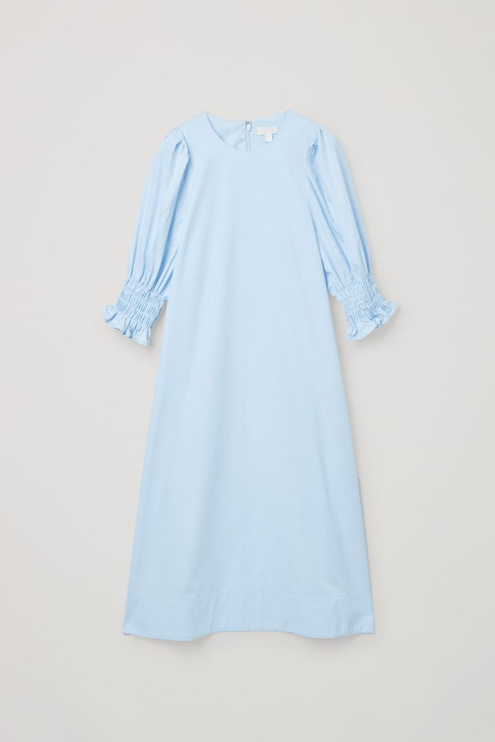 COS hover image 8 of  in 코튼 스모킹 퍼프 슬리브 드레스