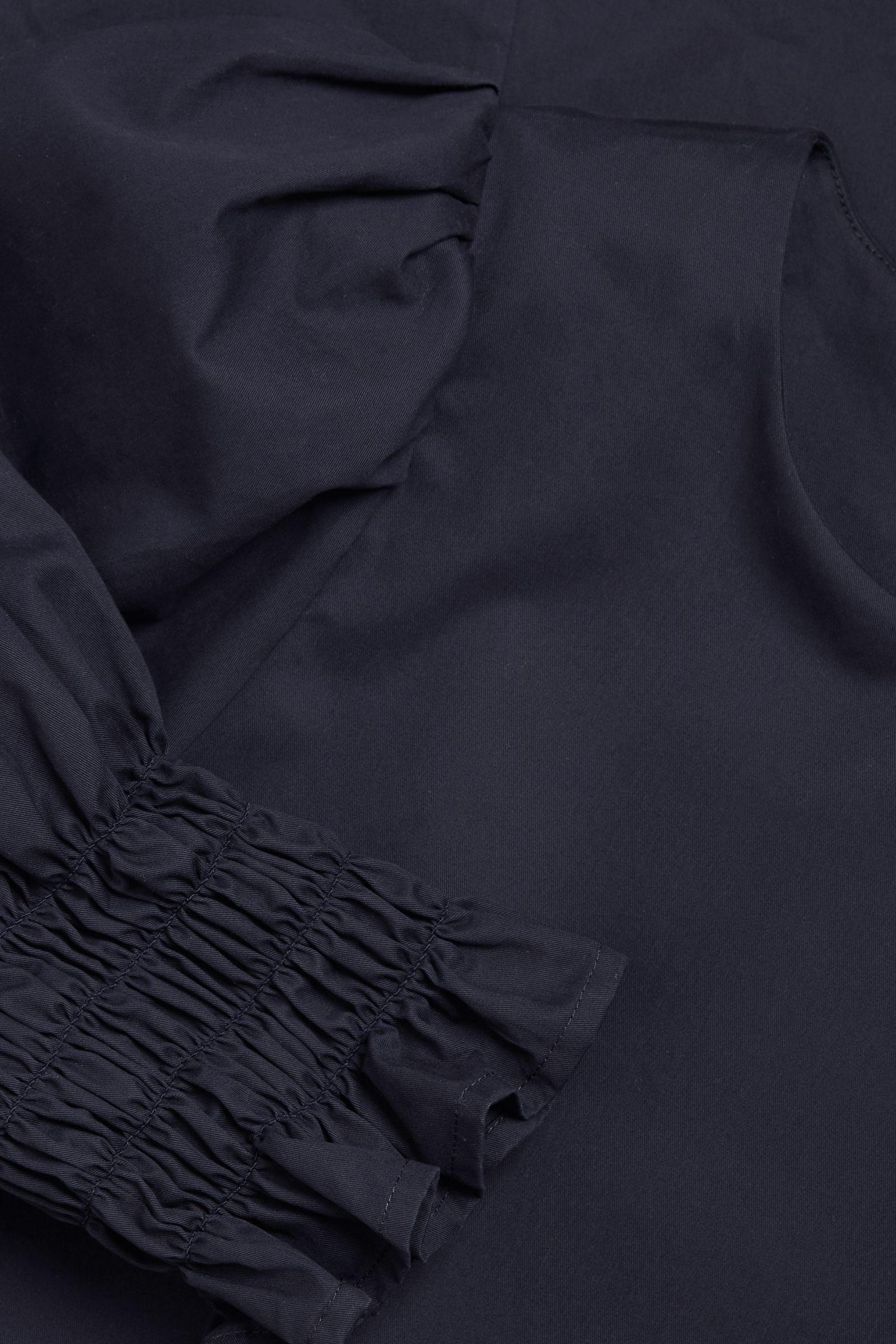 COS 코튼 스모킹 퍼프 슬리브 드레스의 다크 블루컬러 Detail입니다.