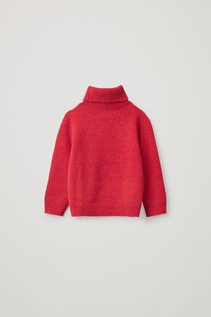 COS 캐시미어 폴로 넥 스웨터의 레드 / 오렌지컬러 Product입니다.