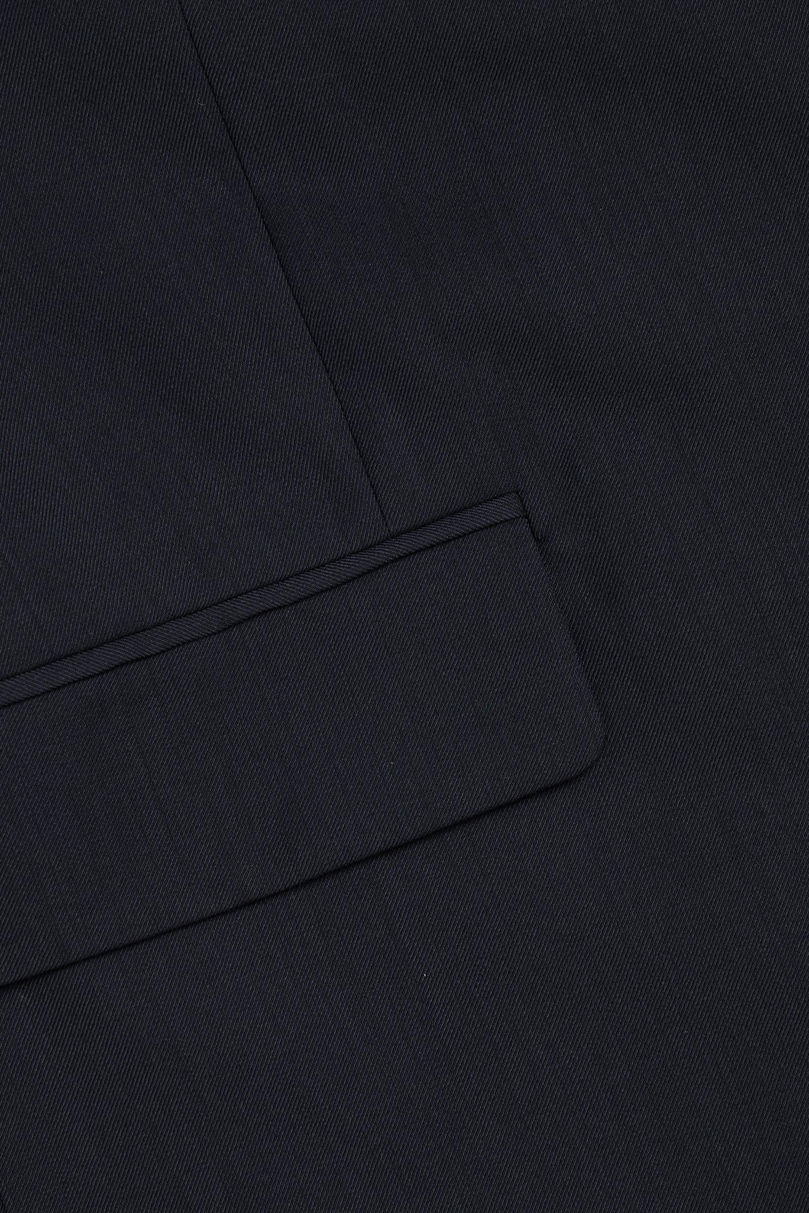 COS 슬리브리스 울 믹스 블레이저의 네이비컬러 Detail입니다.