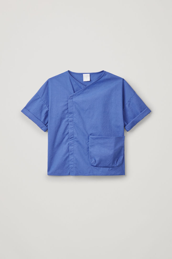 COS default image 10 of 블루 in 애시메트릭 코튼 셔츠