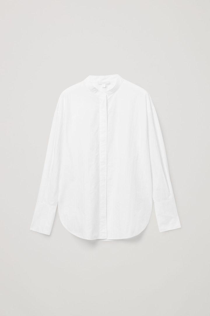 COS hover image 4 of 화이트 in 칼라리스 셔츠