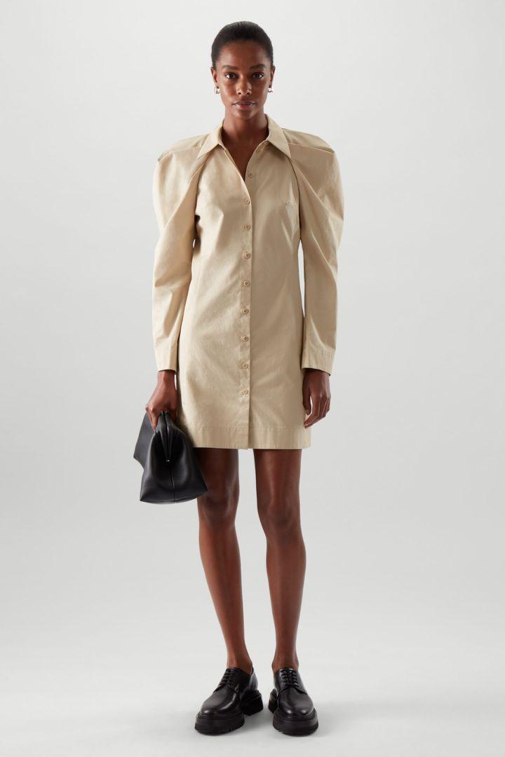 COS default image 3 of  in 드레이프드 코튼 셔츠 드레스