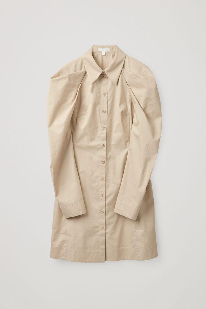 COS hover image 3 of  in 드레이프드 코튼 셔츠 드레스