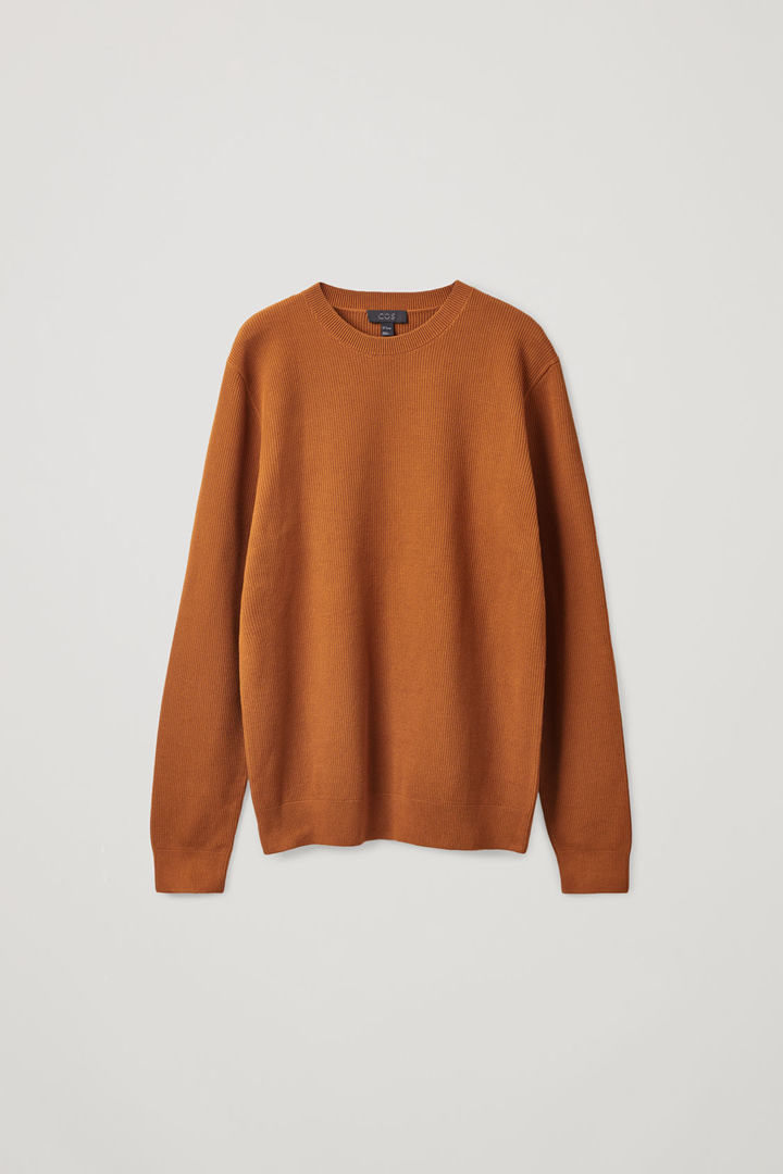 COS hover image 3 of 오렌지 in 텍스처드 니트 스웨터