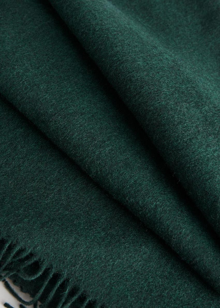 앤아더스토리즈 울 프린지 블랭킷 스카프의 그린컬러 Detail입니다.