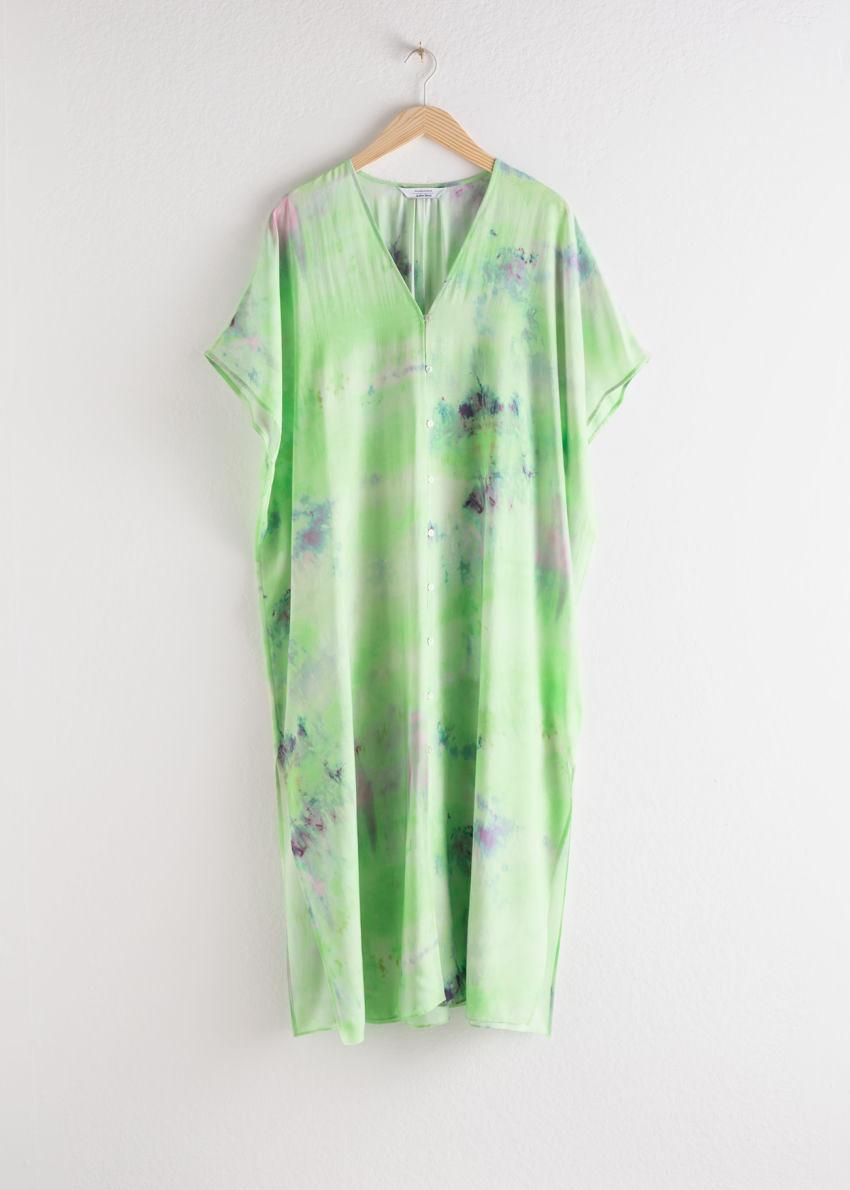 앤아더스토리즈 리오셀 블렌드 타이 다이 카프탄 드레스의 타이 다이컬러 Product입니다.