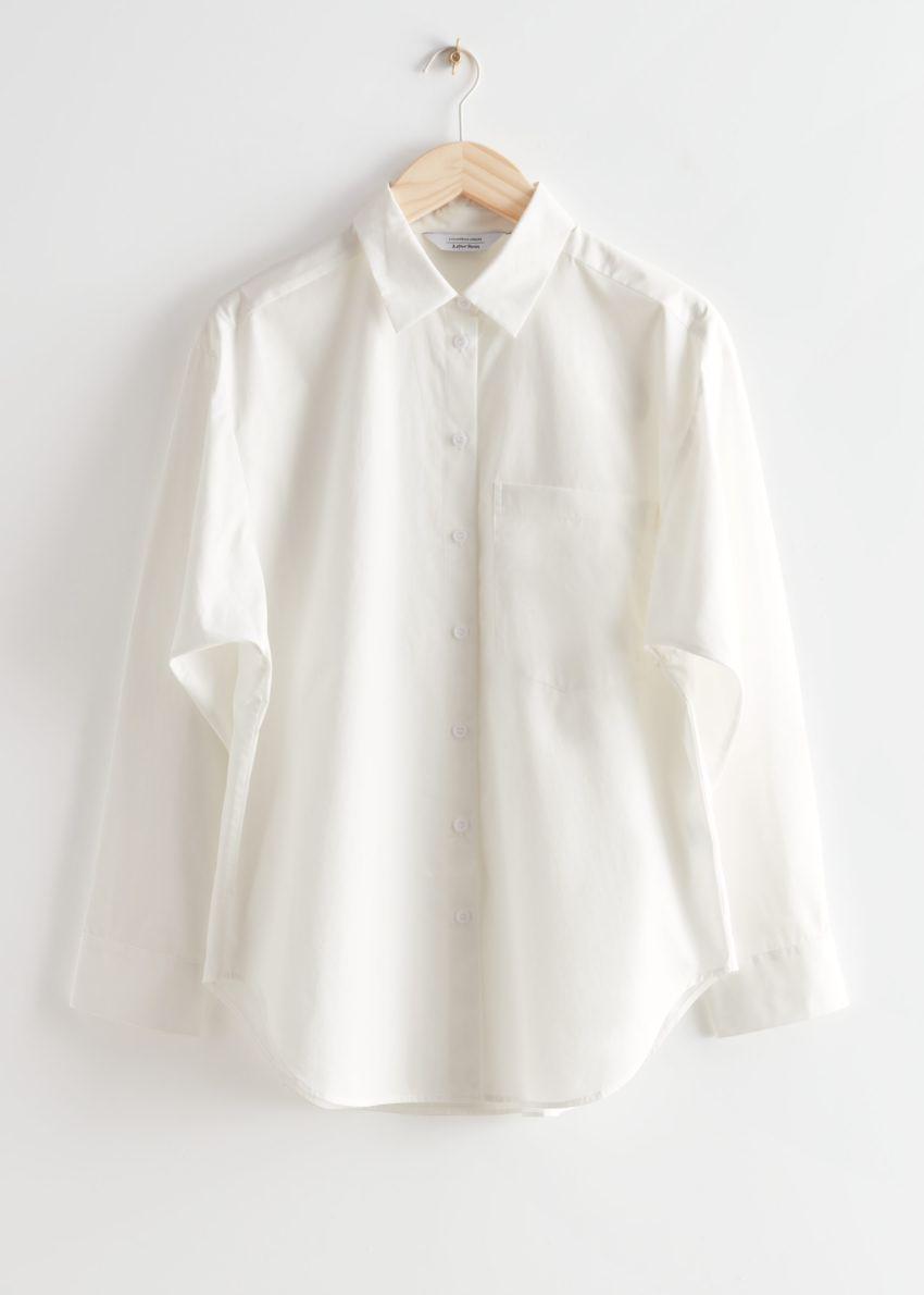 앤아더스토리즈 오버사이즈 셔츠의 화이트컬러 Product입니다.