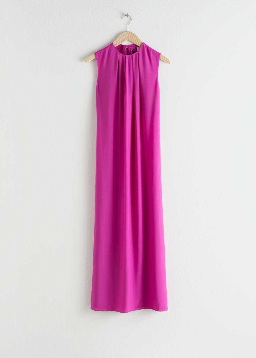앤아더스토리즈 오픈 타이 백 미디 드레스의 핑크컬러 Product입니다.