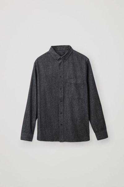 COS default image 2 of 블루 in 데님 셔츠