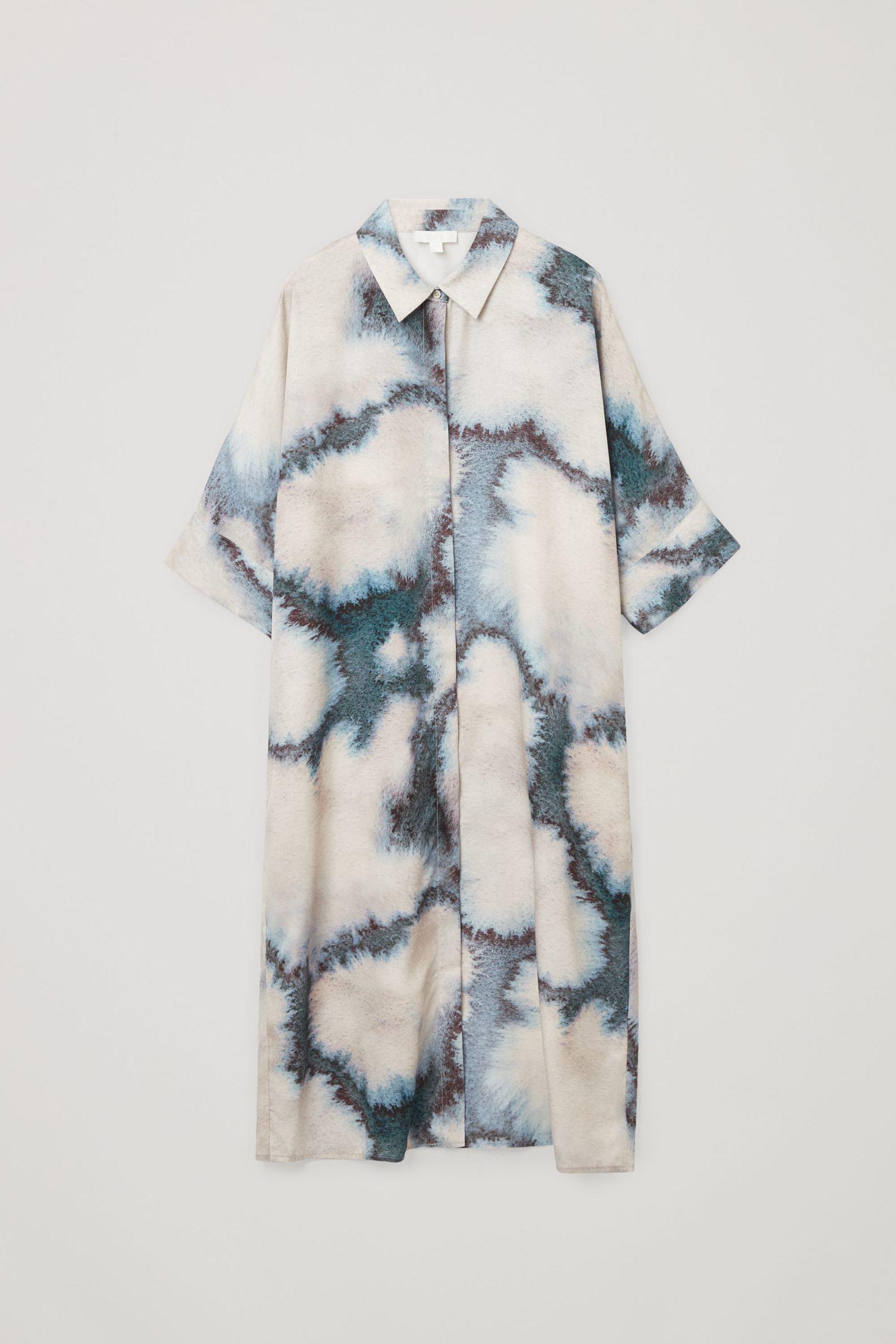 COS 프린티드 셔츠 드레스의 베이지컬러 Product입니다.