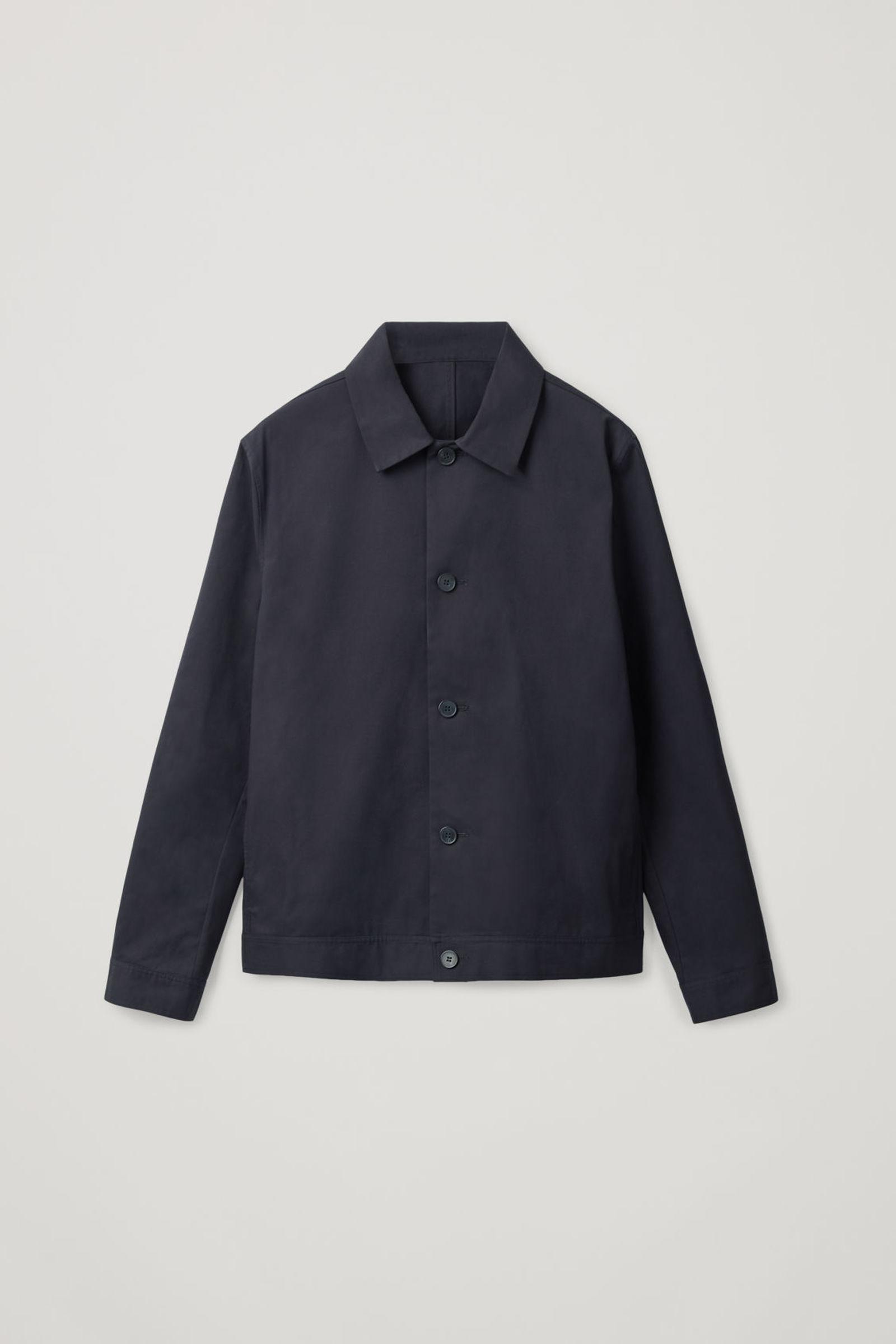 COS 오가닉 코튼 재킷의 네이비컬러 Product입니다.