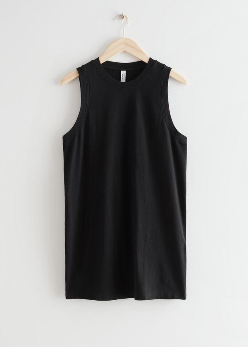 앤아더스토리즈 릴렉스드 미니 탱크 드레스의 블랙컬러 Product입니다.