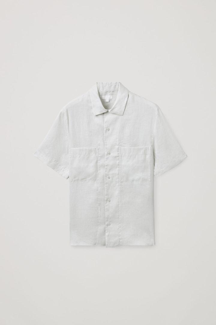 COS hover image 6 of 그레이 in 캠프 칼라 쇼트 슬리브 셔츠