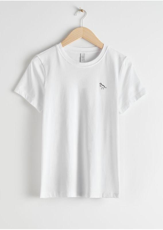 &OS image 29 of  in 엠브로이더리 오가닉 코튼 티-셔츠
