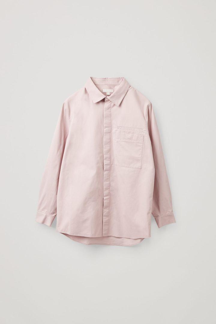 COS hover image 11 of 핑크 in 릴랙스드 핏 오가닉 코튼 셔츠