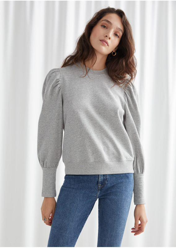 &OS image 1 of  in 퍼프 슬리브 코튼 스웨터