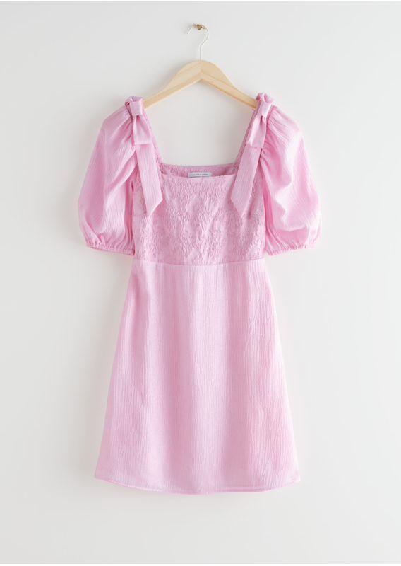 &OS image 22 of  in 피티드 퍼프 슬리브 미니 드레스