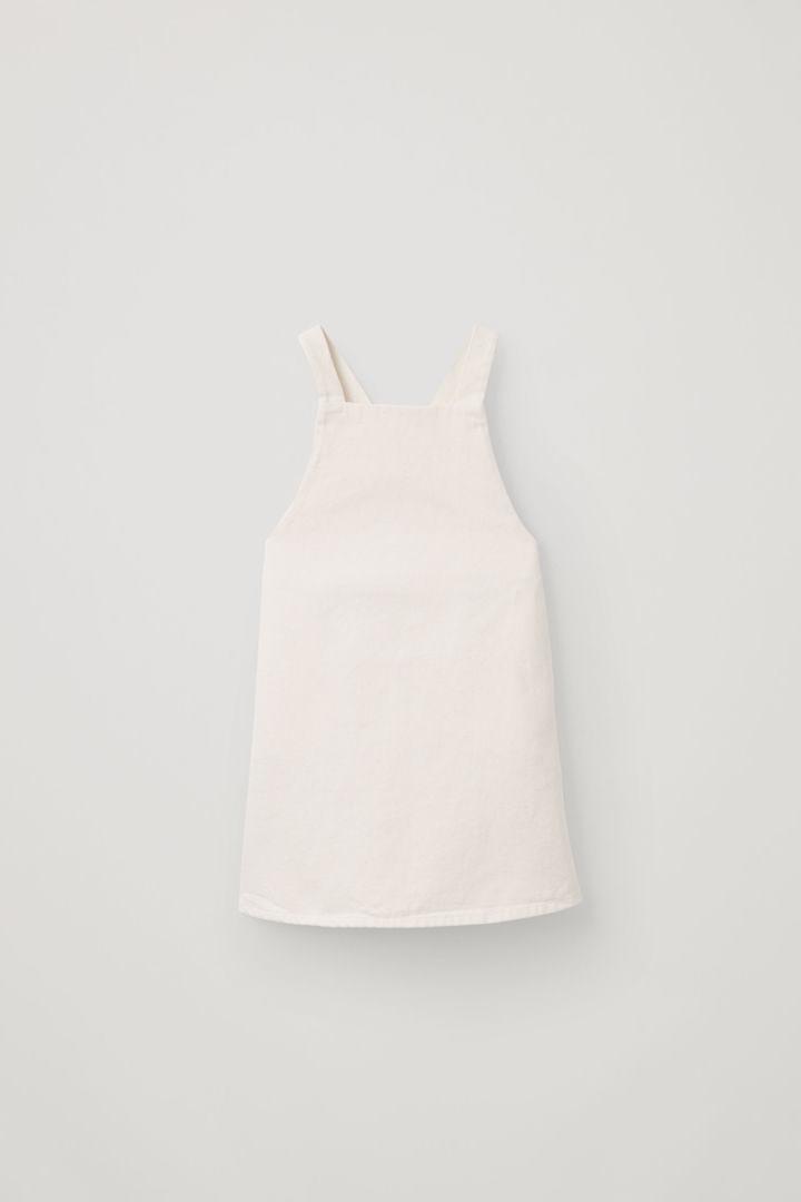COS default image 2 of 베이지 in 크로스오버 백 에이프런 드레스