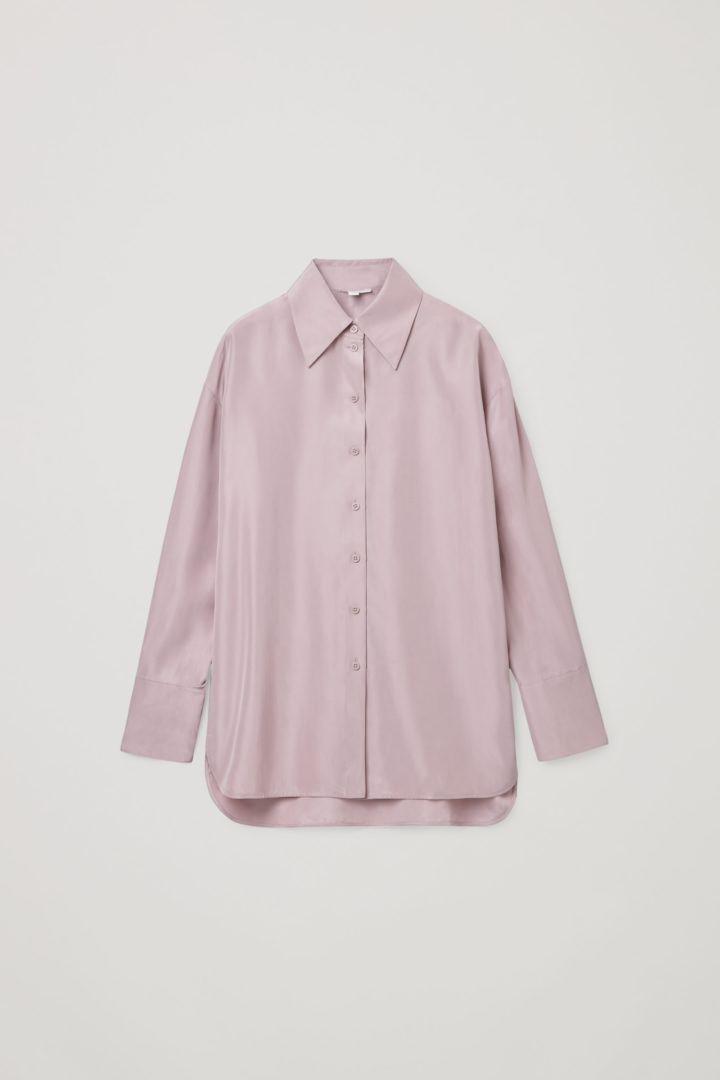 COS hover image 2 of 핑크 in 릴랙스드 실크 셔츠