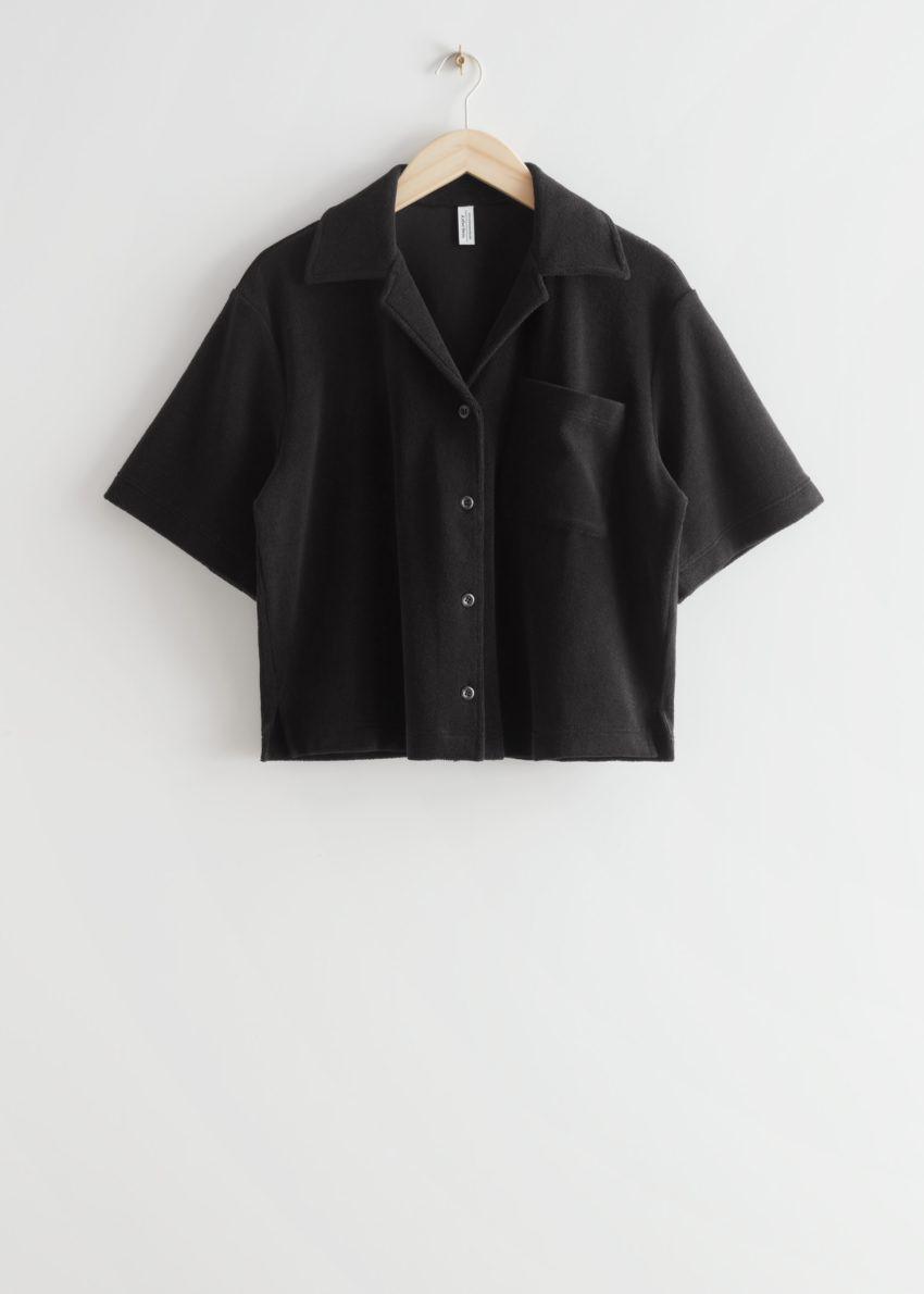 앤아더스토리즈 박시 테리 셔츠의 블랙컬러 Product입니다.