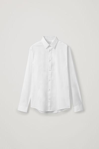 COS default image 11 of 화이트 in 오가닉 코튼 클래식 슬림핏 셔츠