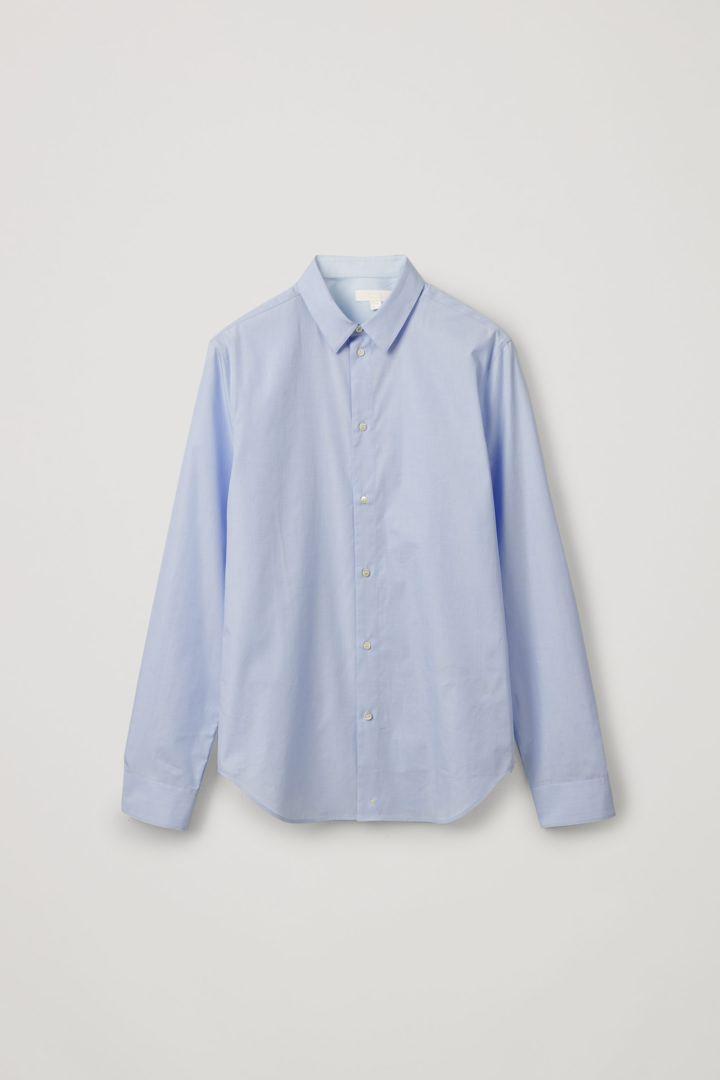 COS hover image 10 of 터쿼이즈 in 스트레이트 슬림핏 셔츠
